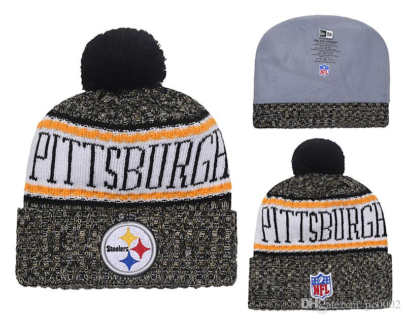 Men s Pittsburgh Steelers New Black 2018 Sideline Cold Weather Official  Sport Knit Hat White Black Retro Cuffed Knit Hat With Pom 03 Baseball Caps  Hats ... f43b69a6f
