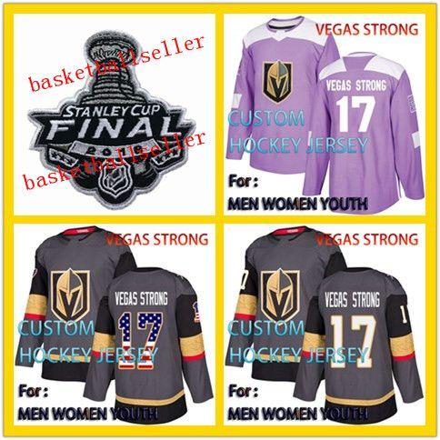 Golden Knights  17 Vegas Strong 2018 Hockey Fights Cancer Jerseys ... 459a5b68c37