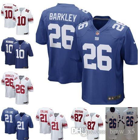 check out 30fb4 6a441 New York Giants 26 Saquon Barkley Jersey Mens 10 Eli Manning 87 Shepard  Football Jerseys men women youth kids