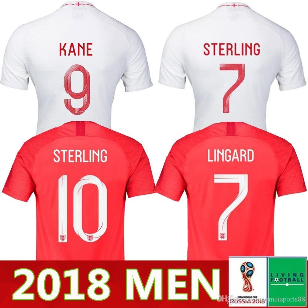 4417ec30c00 2019 Top Quality 2018 2019 England World Cup Soccer Jersey18 19 Kit 9  KANE  10 STERLING 11 VARDY 19  RASHFORD 20 DELE Football Shirts From  Xiaomeisports88