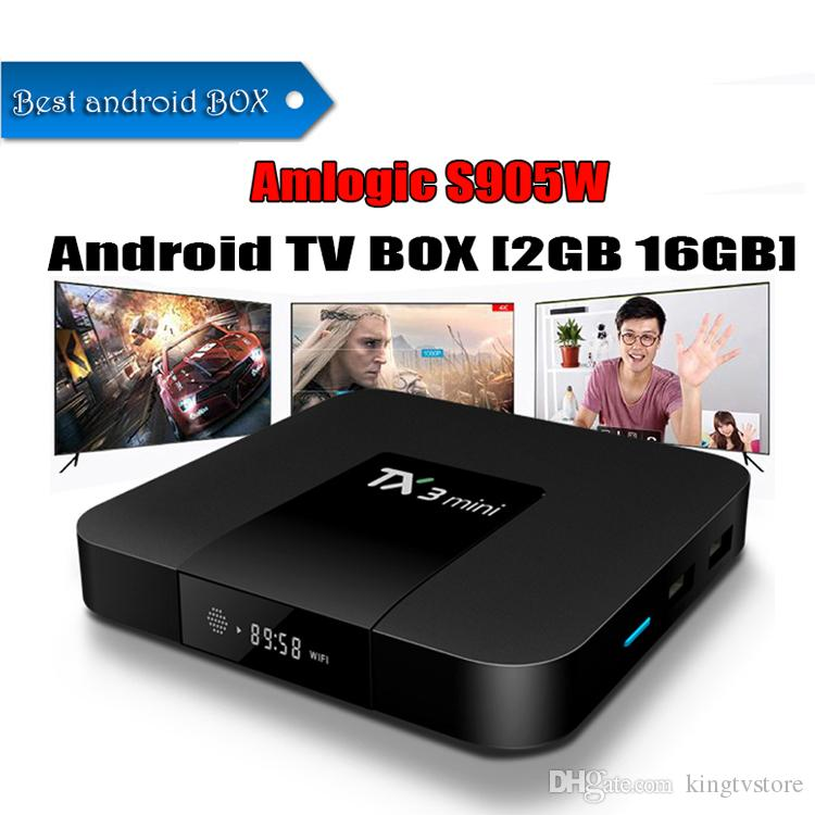 Best Streaming Box 2020 2020 Amlogic S905W TX3 Mini 2GB 16GB TV Box Quad Core Android 7.1