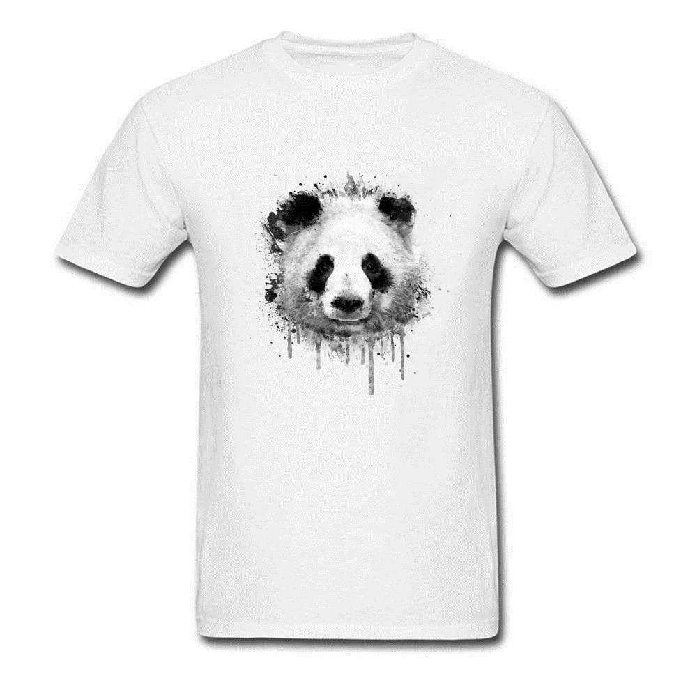 1ff6db2b0637 Black Male T Shirts Custom Design 3d Drawing Top T Shirts Good Quality 100% Organic  Cotton Tee Shirt Graffiti Watercolor Panda Funky Tee Shirts Humor T ...