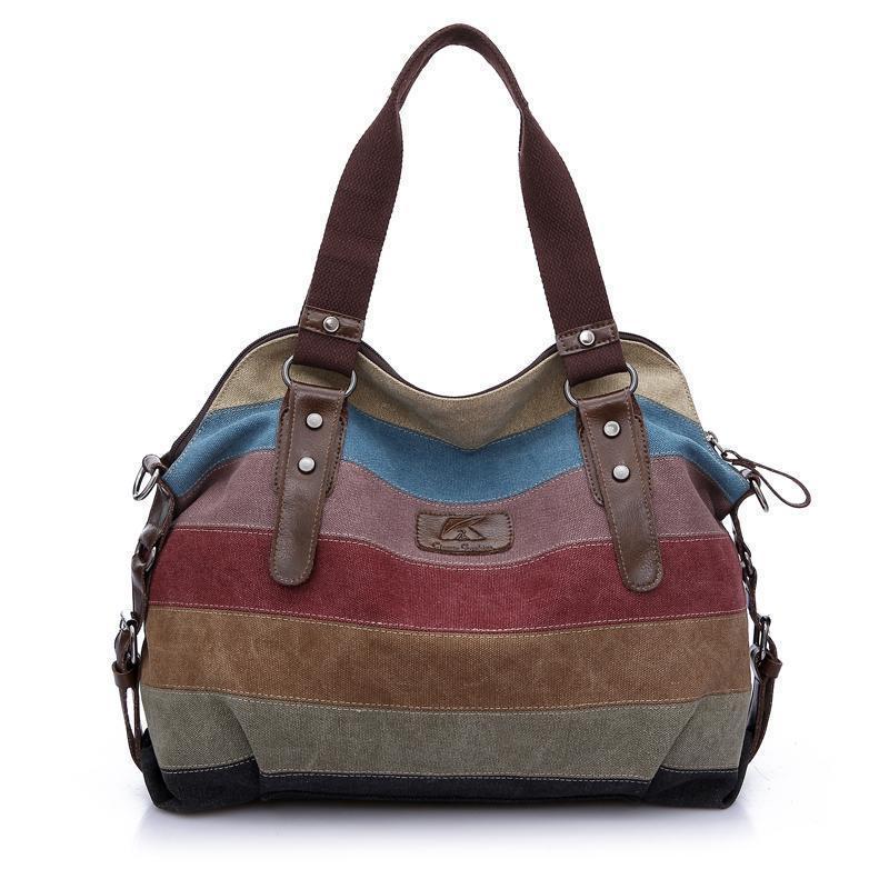 0d6fb0b8507f Nice Women Canvas Shoulder Bag Messenger Female Crossbody Bags Lady Vintage  Handbag Woman Travel Large Casual Tote Bolsos Weekend Bags Luxury Bags From  ...