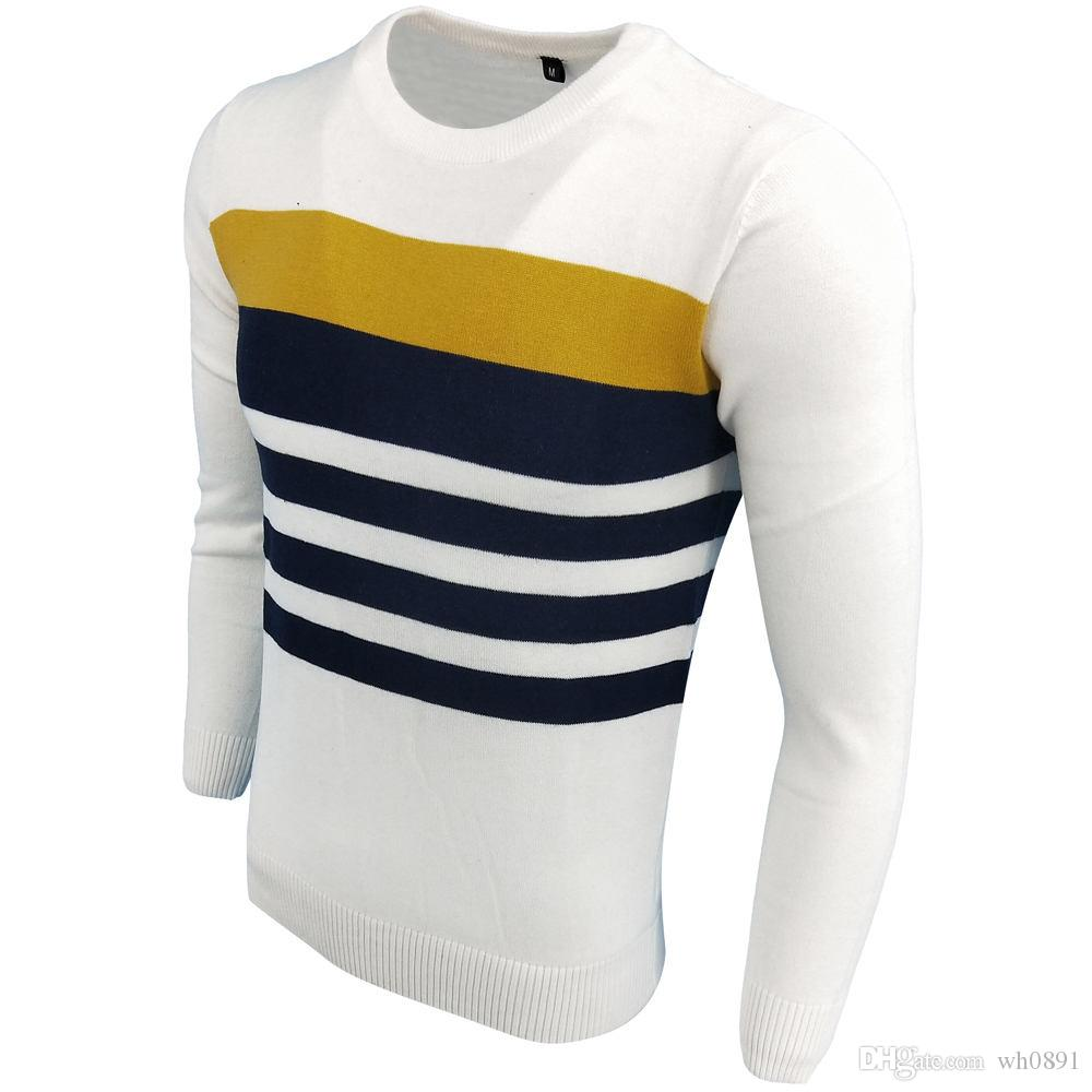 720b1bfe3 Marca de moda para hombre Carta de bordado Prendas de punto de invierno  Ropa de hombre Cuello redondo Suéter de manga larga para hombre Diseñador  de ...