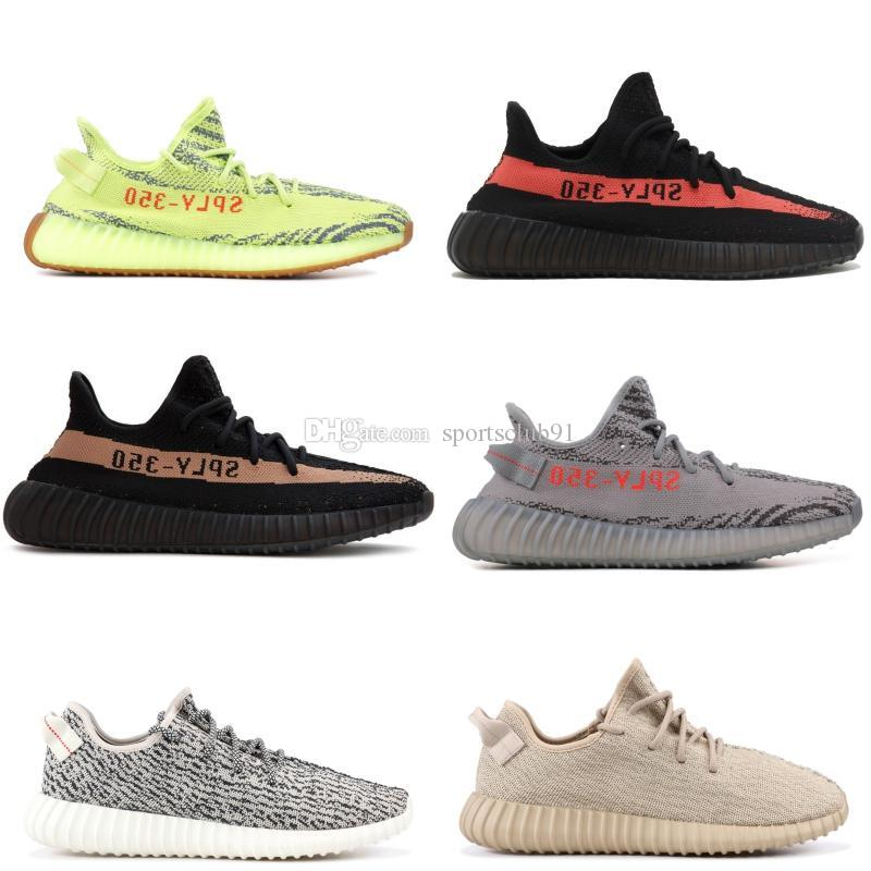 Cheap Sply 350 V2 Static Black White Sesame Newest 350 Boost Running Shoes  Kanye West for Men Women Sports Sneakers Size 36-46 Yeezy Yeezys 37805020d