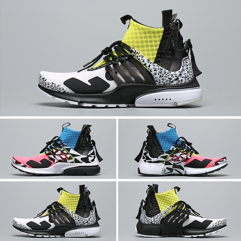 Camouflage De Presto Designer V2 Tt Acronym Graffiti Hommes Course Nike X Racer Air Mid Brand Chaussures Femmes Rose New c354LRjqA