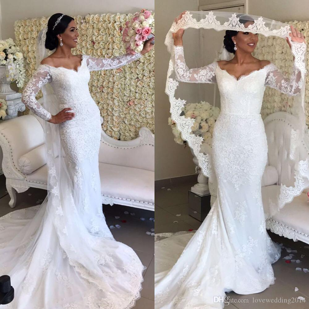 Vestidos de novia de sirena 2019