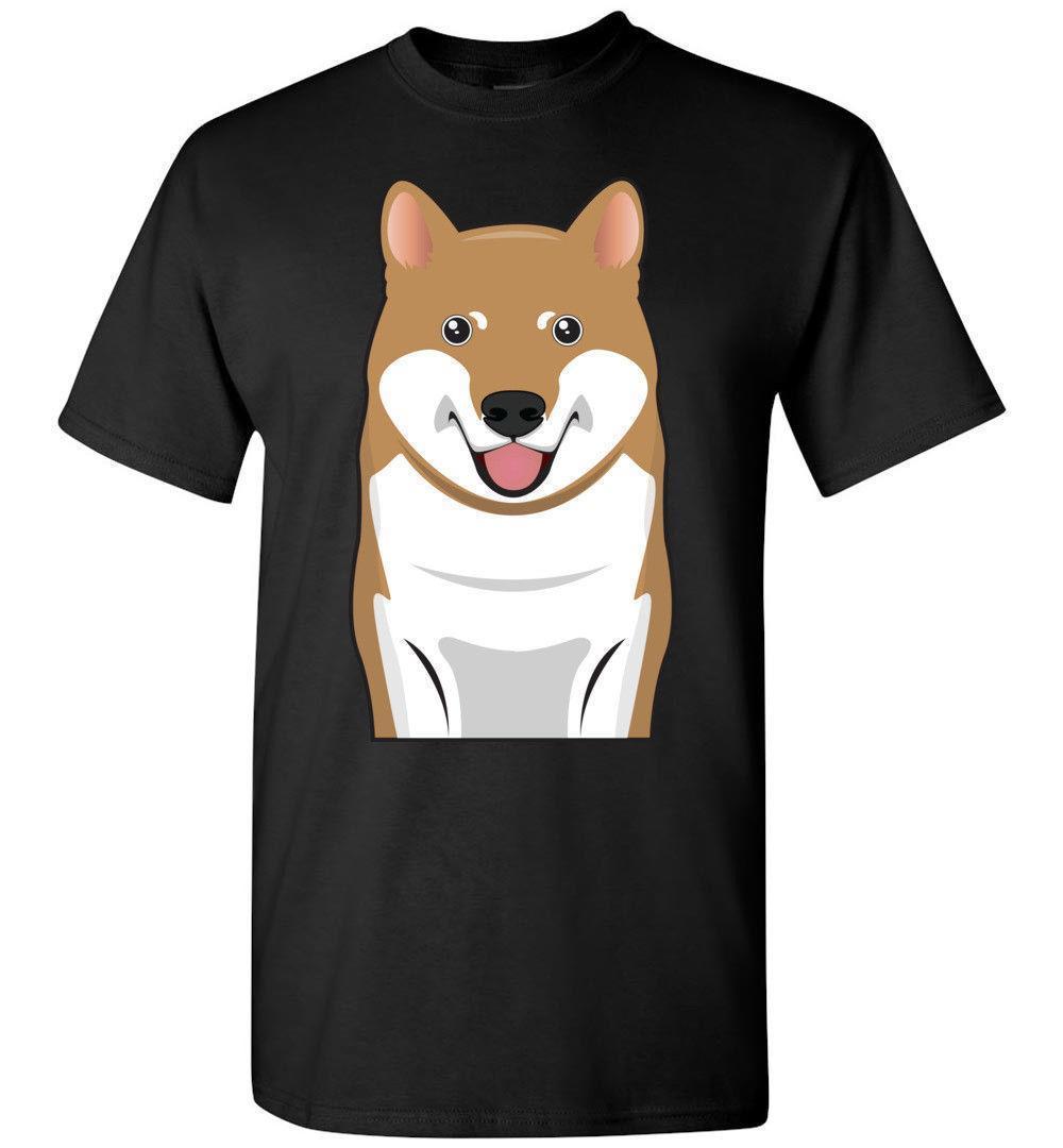 11f13840d Shiba Inu Dog Cartoon T Shirt Tee Men Women Ladies Youth Kids Tank Long  Sleeve Print T Shirt Men Brand Clothing Funny T Shirt Prints Funky T Shirt  Designs ...