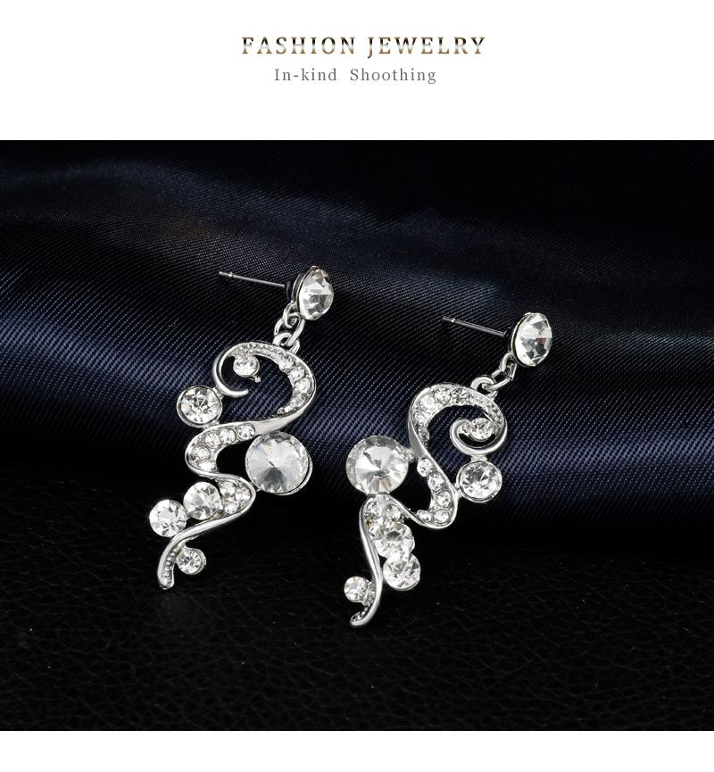 Danbihuabi 2018 Elegante Braut Hochzeit Schmuck Sets Weiß K Strass Halskette Ohrringe Kostüm Schmuck Sets für Frauen Geschenke