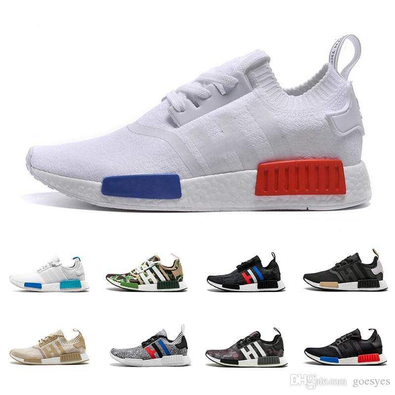low cost 08b52 830c7 2019 Chaussures Adidas NMD R1 OREO Runner NBHD Primeknit OG Xr1 Triple Negro  Camo Blanco Zapatillas De Correr Para Hombres, Mujeres, Color Beige Zapato  ...
