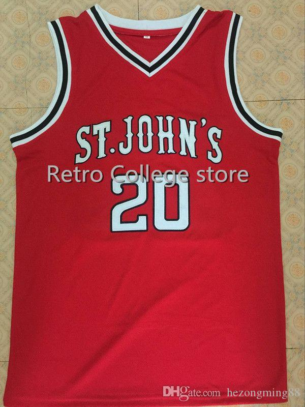 5c69086b615 15 Ron Artest 20 Chris Mullin St John's University Men's Embroidery Stitched  Basketball Jersey Custom any name and number