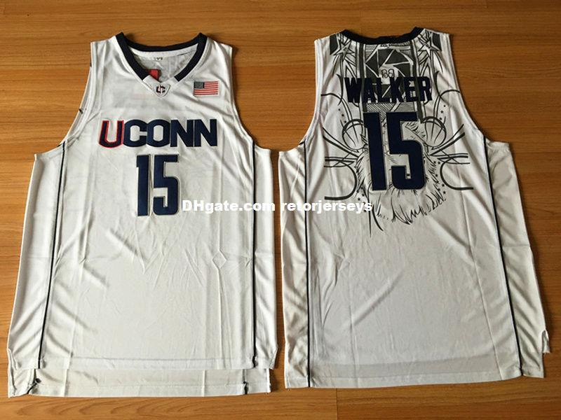 600d65943c4 Wholesale Cheap NCAA Kemba Walker #15 UCONN Sewn Men Stitched ...