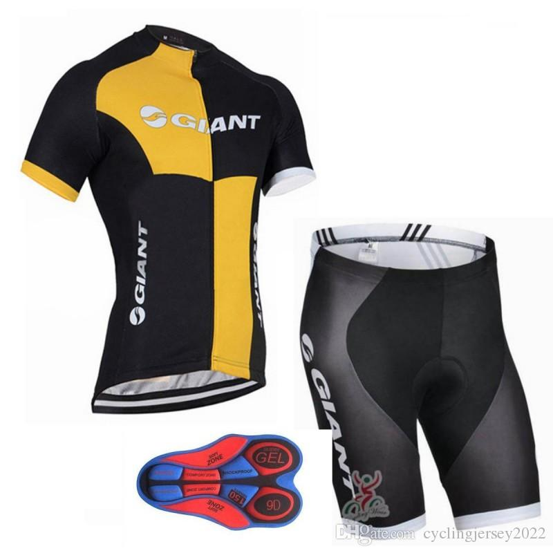 Giant 2019 Cycling Clothing Tour de France tour team men Cycling Jersey MTB bike bib shorts 9D gel pad Maillot Ropa Ciclismo 00057
