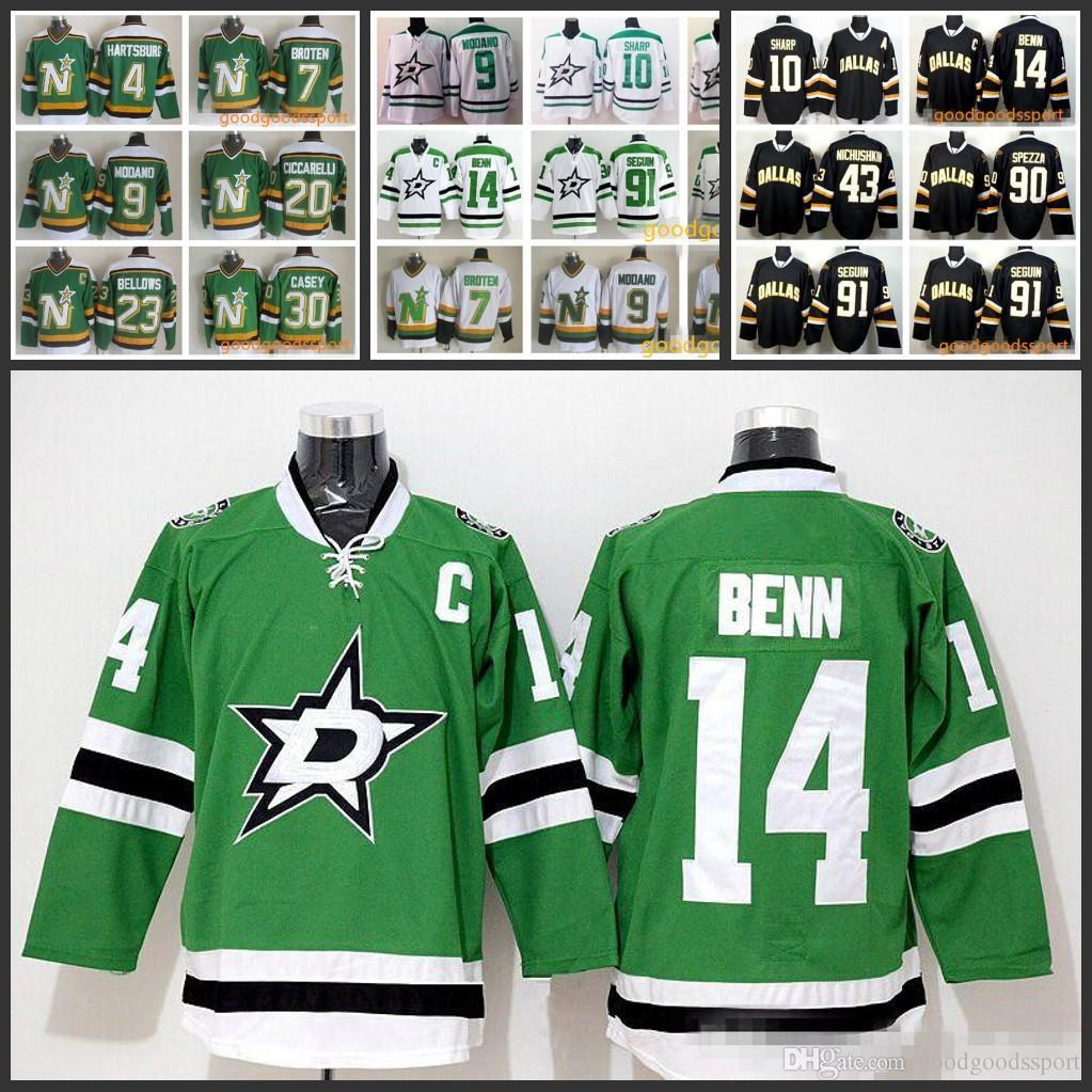 59889280a3a Dallas Stars Jerseys Ice Hokcye Green White 10 Patrick Sharp 14 ...