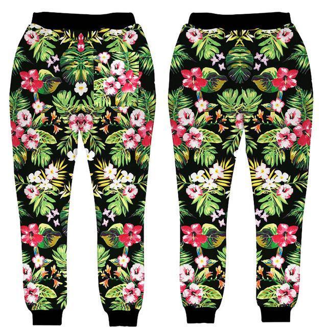 Compre Nuevo Diseño De Estilo Para Hombres   Mujeres Pantalones Jogger  Estampado De Flores Pantalones De Chándal Con Estampado 3D Pantalones Hip  Hop A  24.1 ... eed34063331