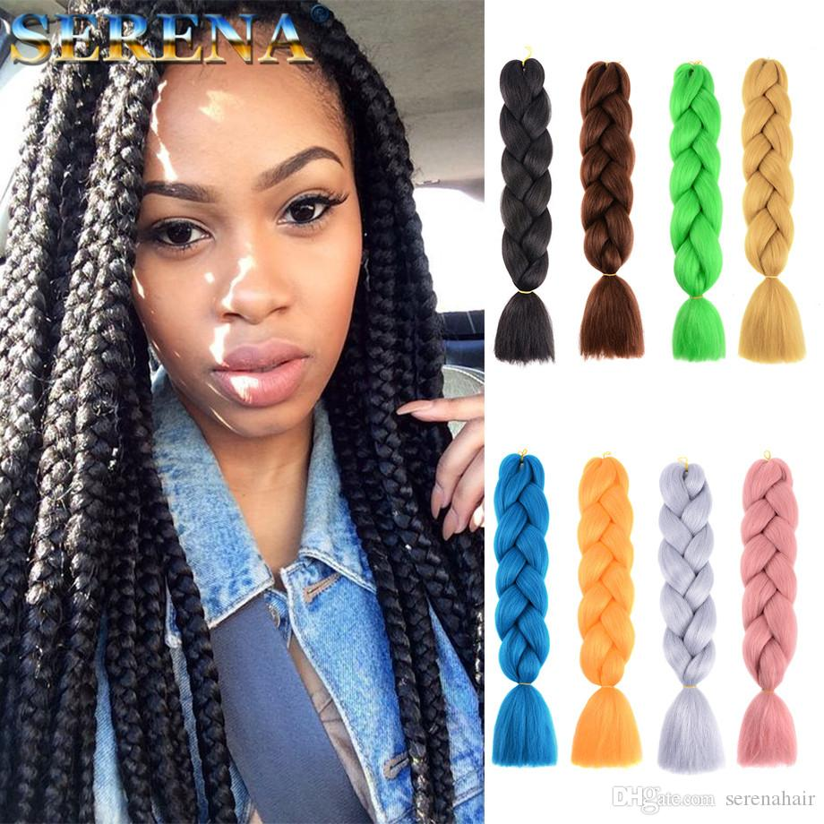 Crochet Hair Extensions Dreadlocks synthetic Crochet Braids twist 24inch 100g Cheap Human Hair Weave Bundles Xpression Braiding Hair