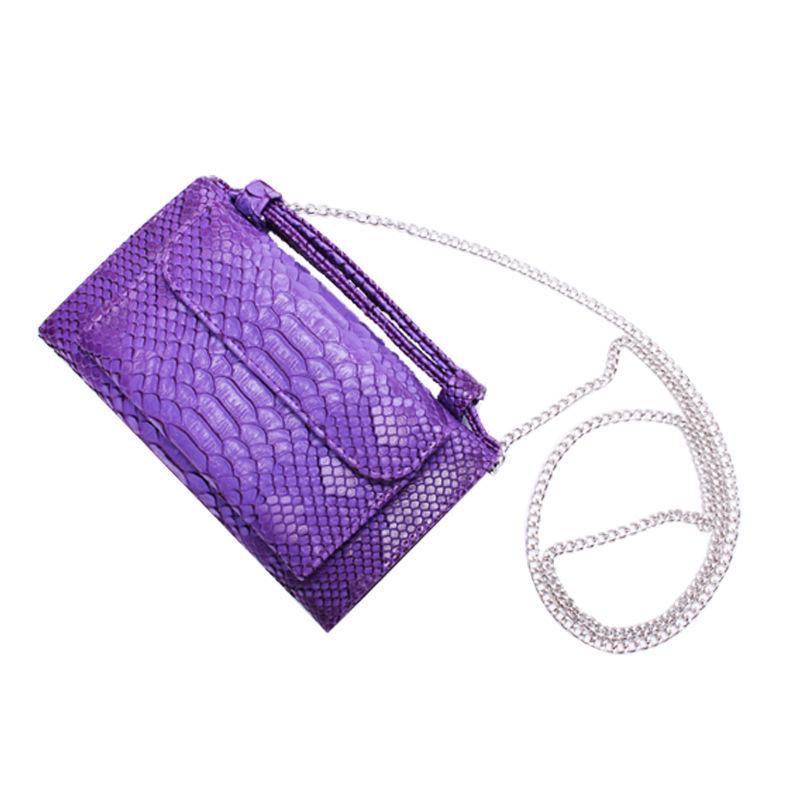 Nice2019 Cowhide Snake Hand Take Package Chain Single Shoulder Satchel Wallet Ma'am Long A Tide