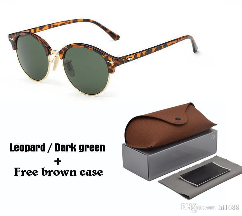 001c1745d246b0 New Fashion Round Sunglasses for Mens Womens Brand Designer Sun Glasses  Women Men Plank Frame Flash Mirror UV400 Protection Lens with Cases Online  with ...
