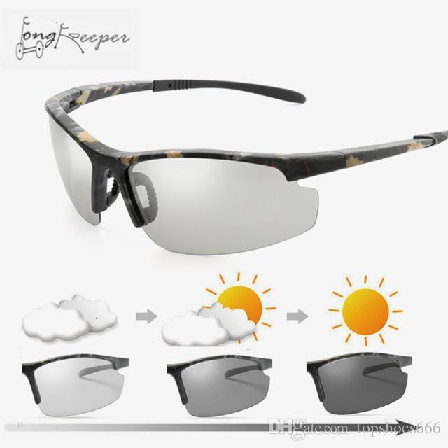 97438fa5e9 2019 Driving Photochromic Sunglasses Cycling Camo Polarized Chameleon  Discoloration Sun Glasses For Women Men Oculos De Sol Masculino  226188  From ...