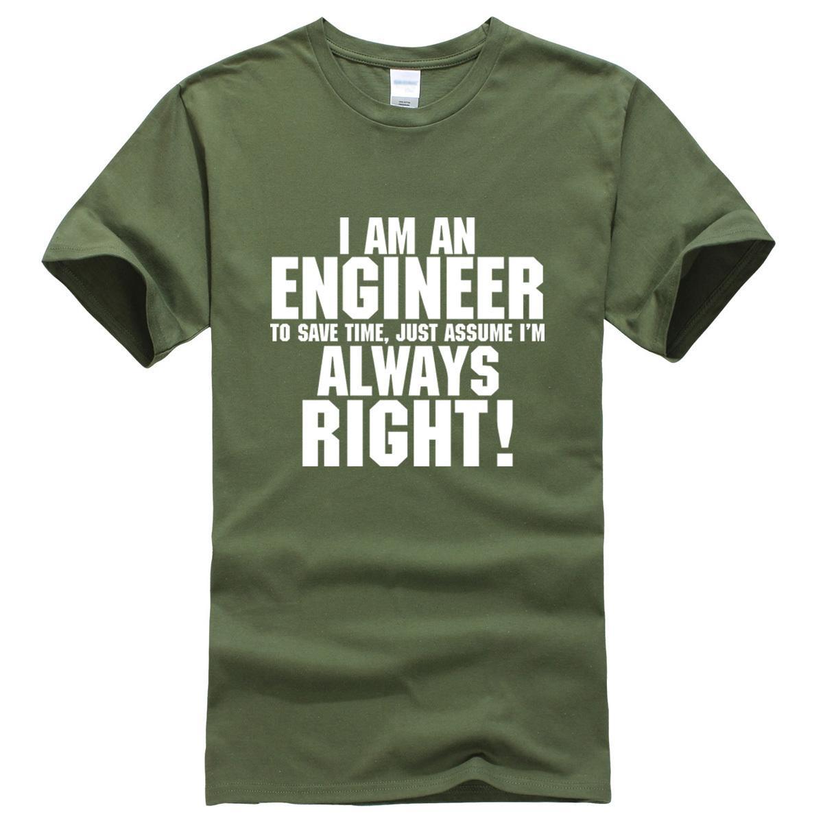 7863bae2 I Am An Engineer Printed Letter Summer 2019 Men's T-shirts Short Sleeve  Cotton T Shirt Men Harajuku Jersey T-shirt Free Shipping