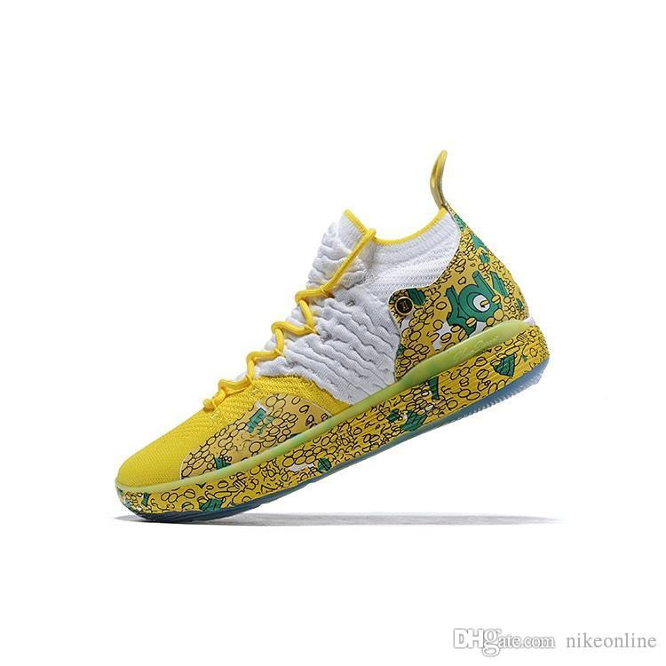 3e0e30f0d9b1 2019 Cheap Kd 11 Men Basketball Shoes High Tops Floral Easters Galaxy Foams  Black Multi BHM Youth Kids Kevin Durant Xi Sneakers Tennis With Box From ...