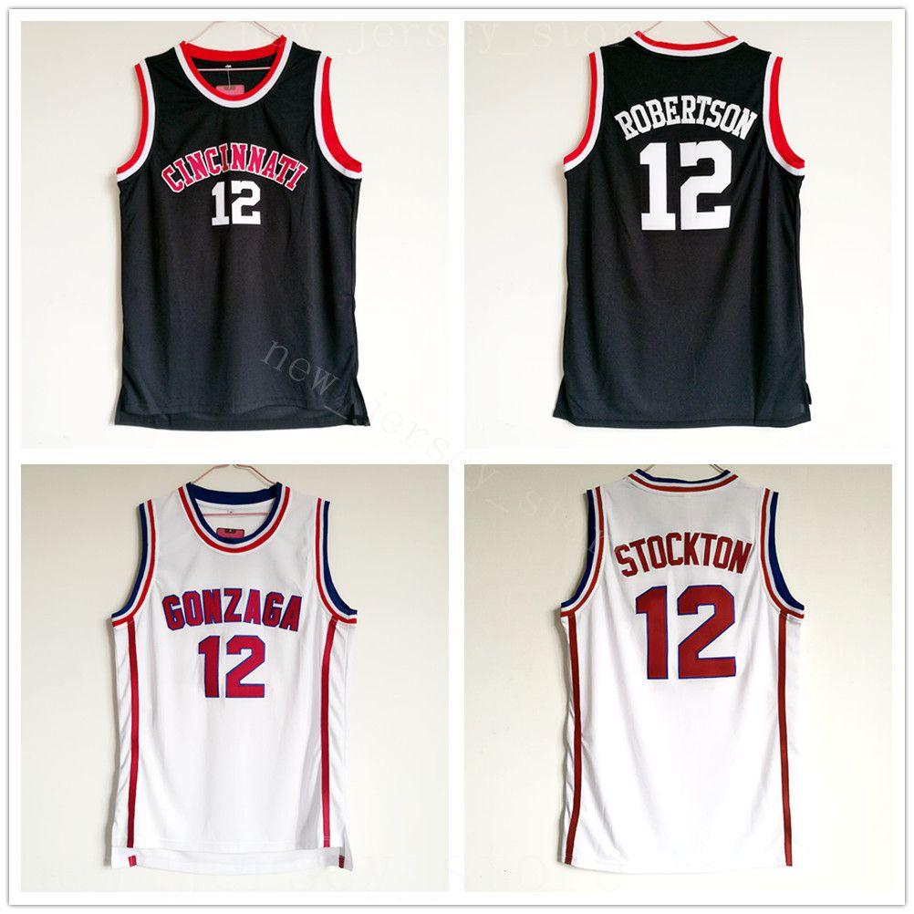 online store c020c 9f2c7 NCAA College Men 12 Oscar Robertson Jersey Basketball Cincinnati Bearcats  Jerseys Top Quality Black Stitched Team Breathable University
