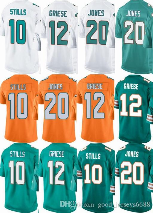 Discount Miami Dolphins Custom Menyouthwomen #10 Kenny Stills 12 Bob Griese  for sale