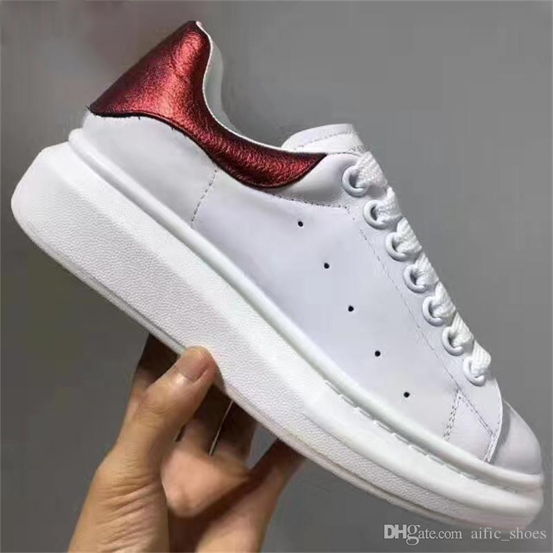 Superior Diseñador Blanco Deporte Mujeres Lujo Cuero Zapatillas Real Calidad Zapatos Hombres 2019 De Casuales 7gyvIfYb6