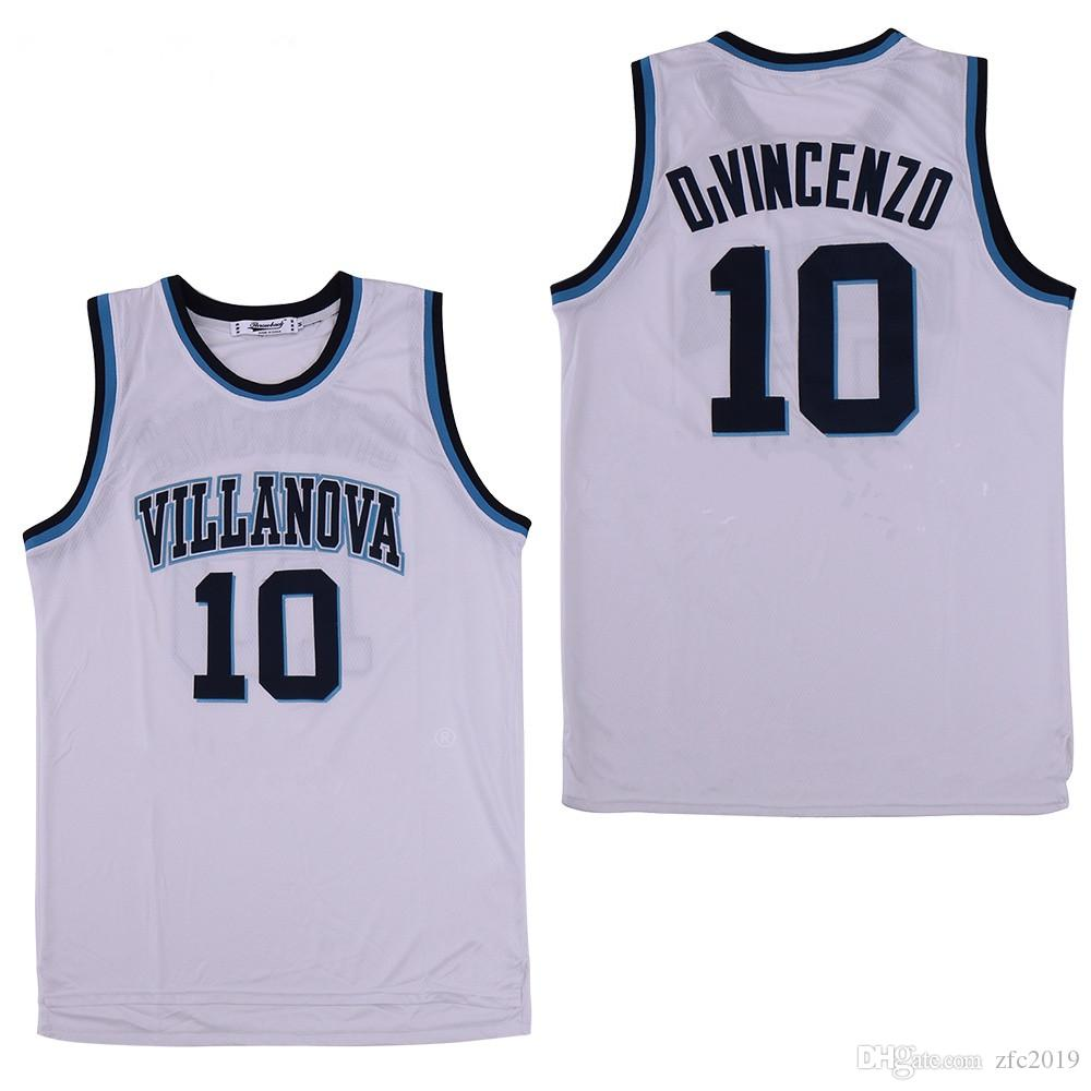 3fe3b7787497 2019 NCAA 2019 Villanova Wildcats  1 Jalen Brunson 25 Mikal Bridges 10  Donte DiVincenzo 15 Ryan Arcidiacon White Navy College Basketball Jerseys  From ...
