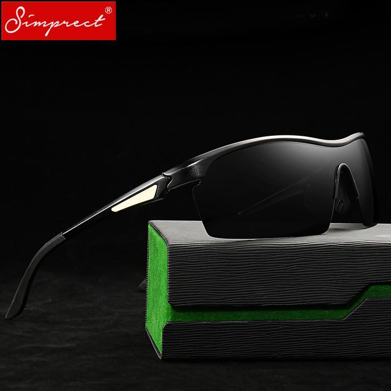 4bc21b0130 SIMPRECT 2019 Aluminium Magnesium Sunglasses Men Polarized UV400 ...