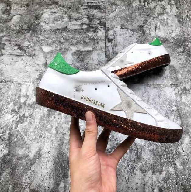 2d5ce811bf46 fdg GGDB Italien Goose SLIDE Sneakers Goldens Goose Faulenzer Schuhe für  Italienische Schuhe Sneakers Leder Wildleder Schuhe für Herren