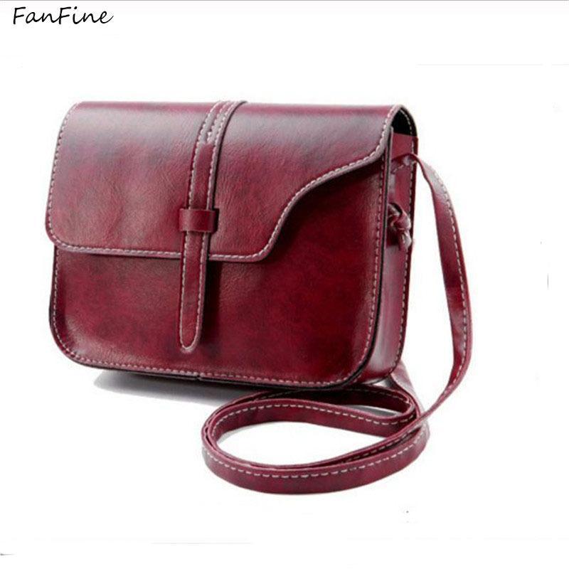be34fdda4258 Cheap FashionFanFine Women Luxury PU Leather Soft Handbags Korean Cool  Vintage Ladies Shoulder Messenger Bags Handbag Girl Crossbody Bag Messenger  Bags For ...