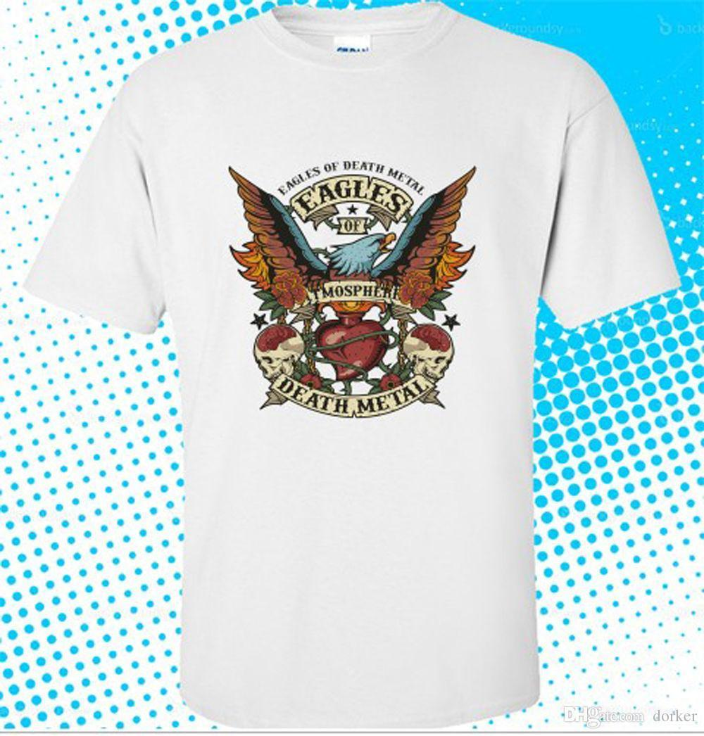 New eagles of death metal rock band logo mens white t shirt size s to 3xl man t shirt round collar tees