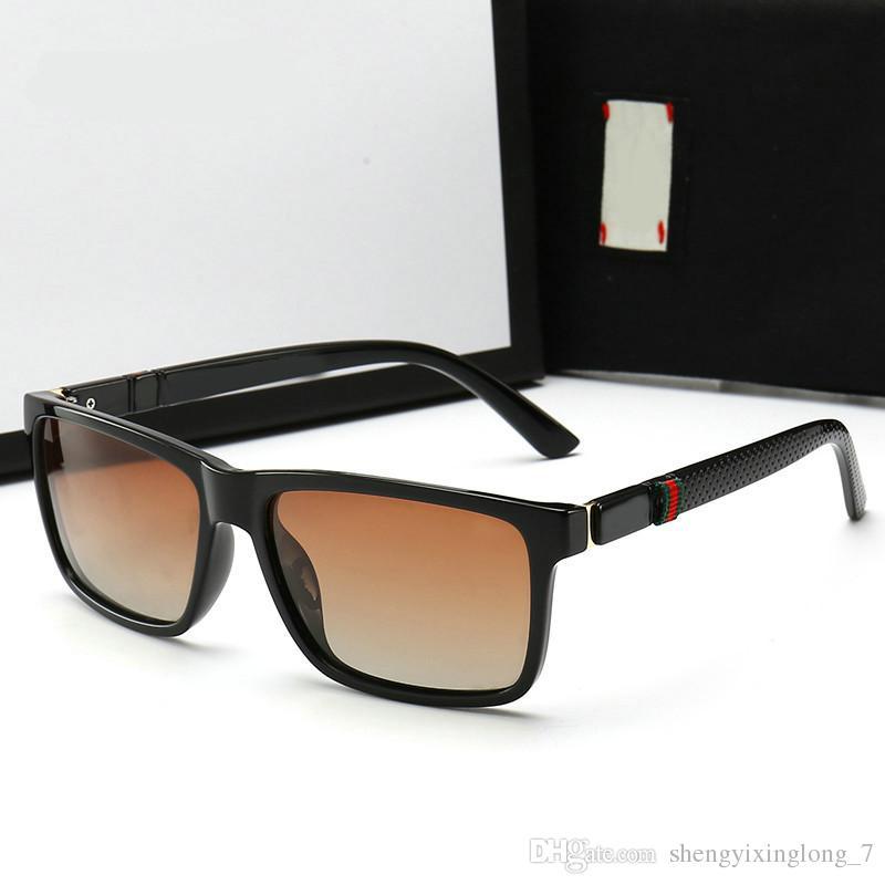 f74c10ef24 Compre 2019 Alta Calidad Lentes Polarizadas Gafas De Sol De Moda De Lujo  Para Hombres Diseñador De La Marca De Conducción Gafas De Sol Lente UV400  Con Caja ...
