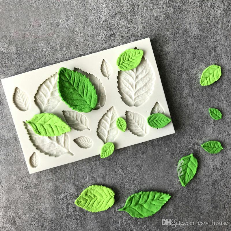 Rose Leaves Silicone Soap Mold Kitchen Accessories Cake Mold Candy Cookies Tools Fondant Cake Decoration Soap Mold Baking Moulds