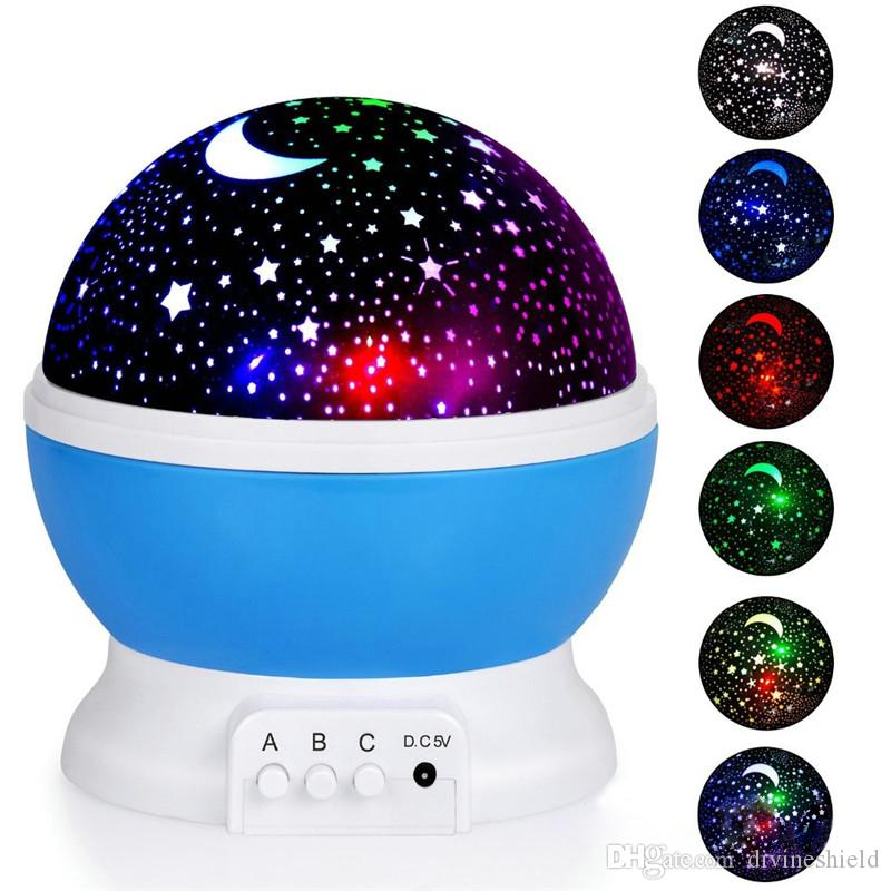 Projector Night Lamp Rotating Night Light Projector Spin Starry Sky Star Master Children Kids Baby Sleep Romantic Led USB Lamp Projection