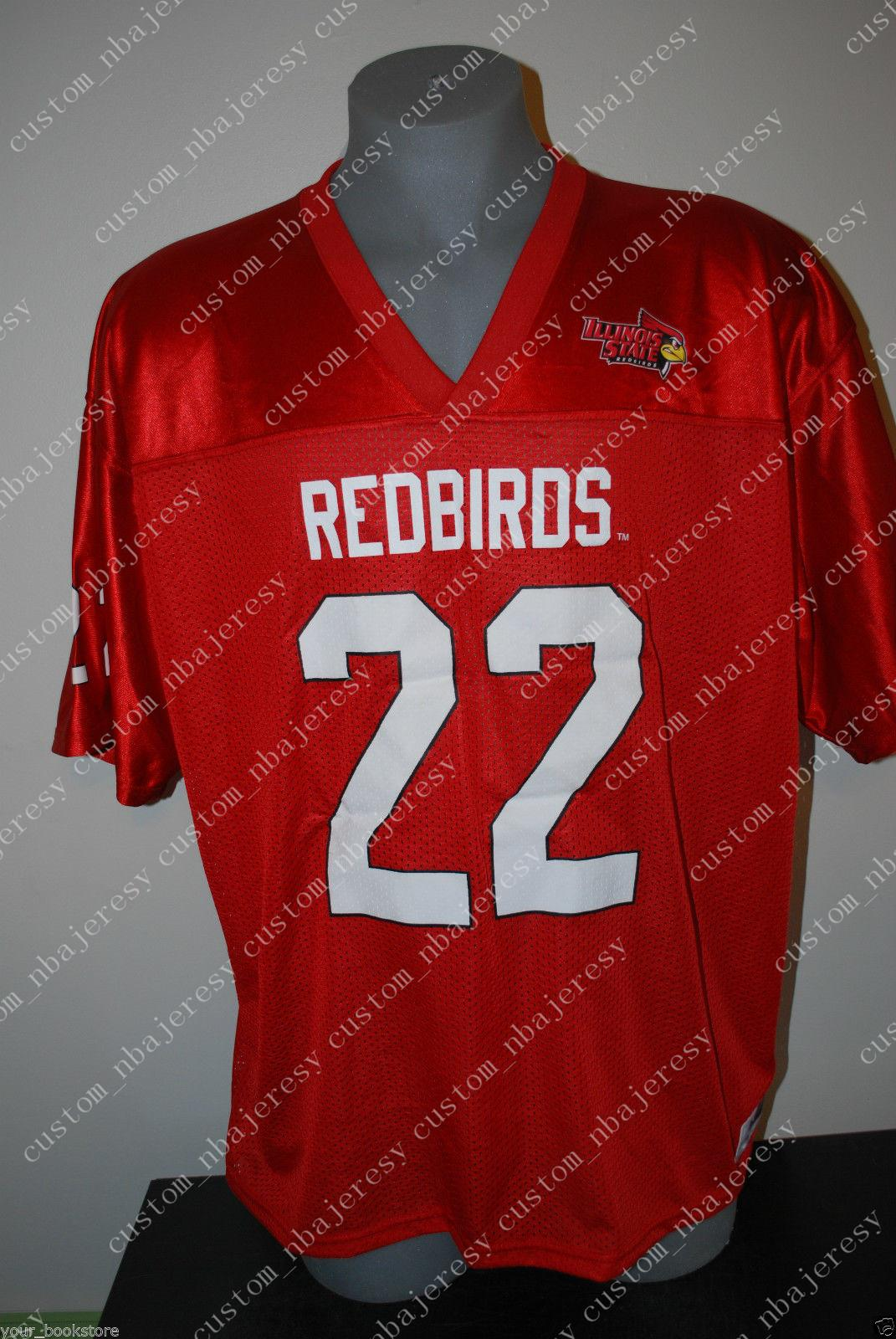 pretty nice 8c5b3 bce0c Cheap custom New Ezra Thompson Illinois State Redbirds College NCAA  Football Jerseys Customized Any name number Stitched Jersey XS-5XL