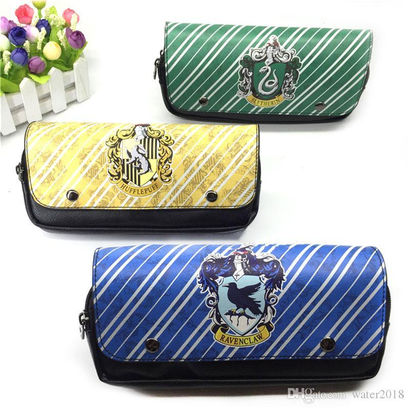 Harry potter Pencil Pen Bag wallet Cartoon Pencil Case Students Stationery Storage Bag School Office Supply Free DHL 1084