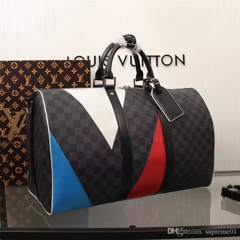 1f894595dff 2019 LOUIS VUITTON SUPREME Luggage Bags For Women Leather Handbags AAA+  Shoulder Bags MICHAEL 8 KOR Travel Duffle Bags Men Tote KEEPALL 55cm LV  From ...