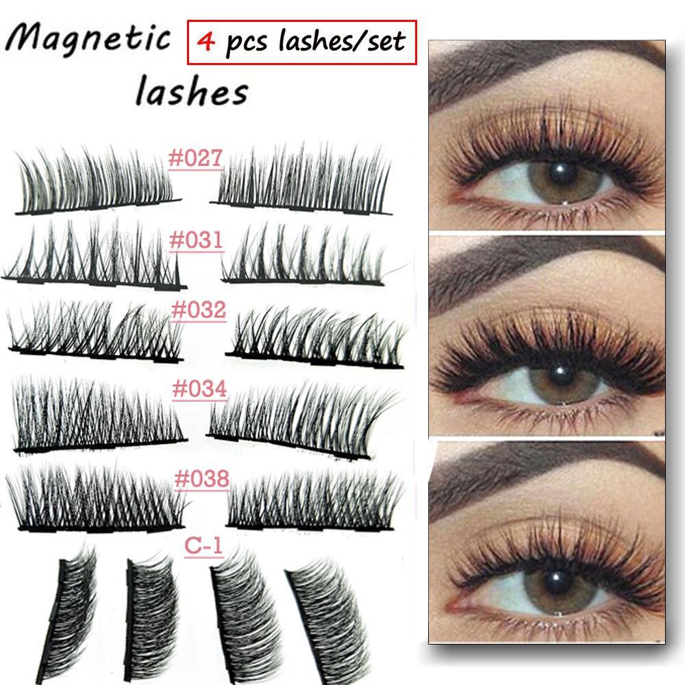 0331bc25d87 Magnetic Eyelashes Extension Eye Makeup Accessories 3d Lashes Soft Hair Double  Magnet False Eyelashes Dropship Party Lashes Semi Permanent Eyelash ...