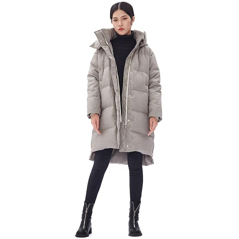acc8588bb21 ODM New design down filled winter coats ladies high quality long puffer  jacket Customized down puffer jacket sale