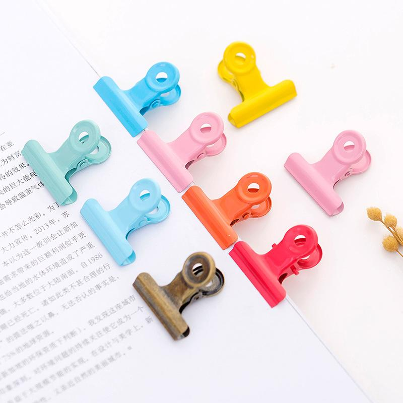 5 pcs/ 1lot Girl heart round tail clip metal Clip Set / Cute metal Paper Clips / Small Craft Photo Pegs Kawaii Stationery
