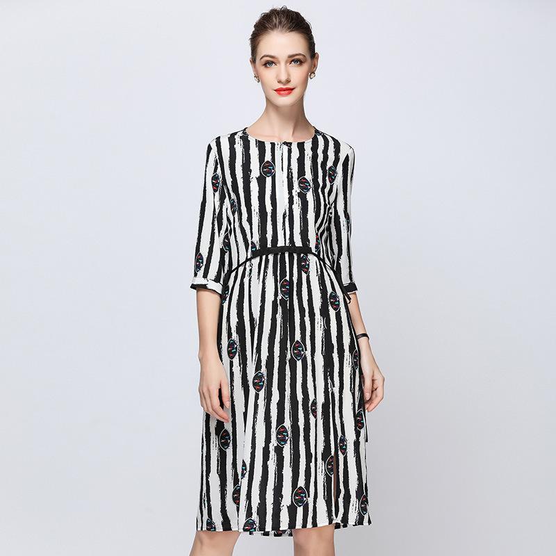 d515631ddf5ee Satın Al Zebra Çiçek Ipek Artı Boyutu Yaz Elbise Elbise Vintage ...