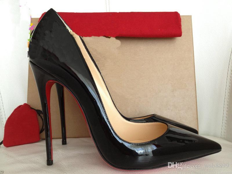 3e134da9ea4 18 Red Pumps Patent leather Pigalle Heels WOMEN Wedding shoes Pointed toe  fine heels Sexy Woman High heels 35-44