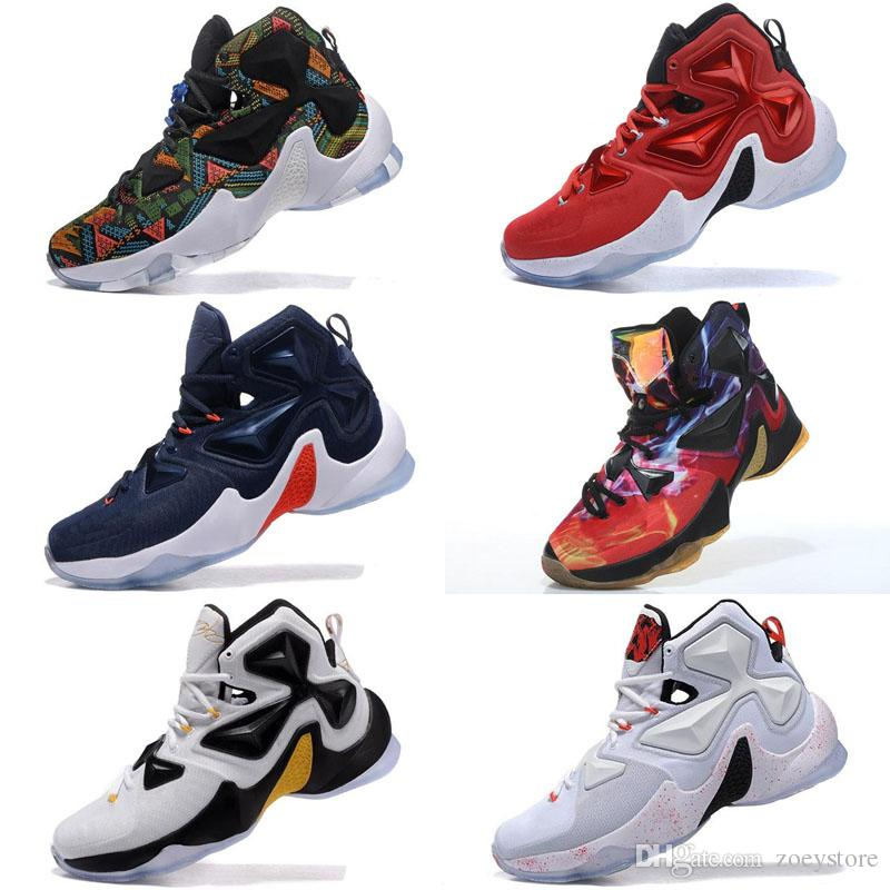 9b864d891c75 2019 Lebron 13 Shoes Mens Outdoor Shoes For Sale MVP Christmas BHM Blue  Easter Halloween Akronite DB Youth Sneakers Size 7 12 From Zoeystore