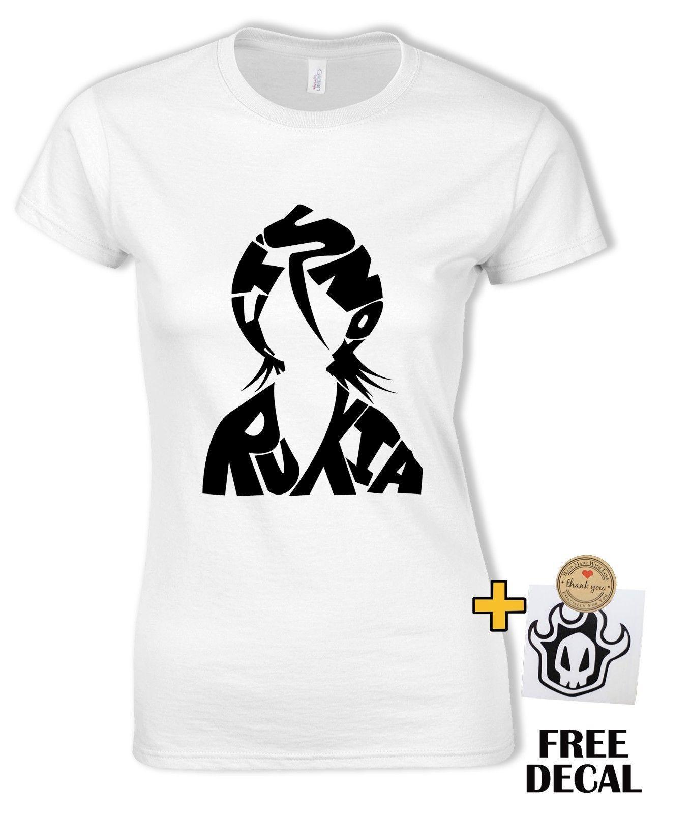 45f466519504 Отбеливатель футболка Рукия Кучики Бьякуя Ичиго душа Жнец аниме tee подарок  ...