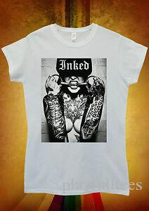 Sexy Tattoo Inked Girl Funny Hipster Men Women Unisex T Shirt Tank Top Vest 905