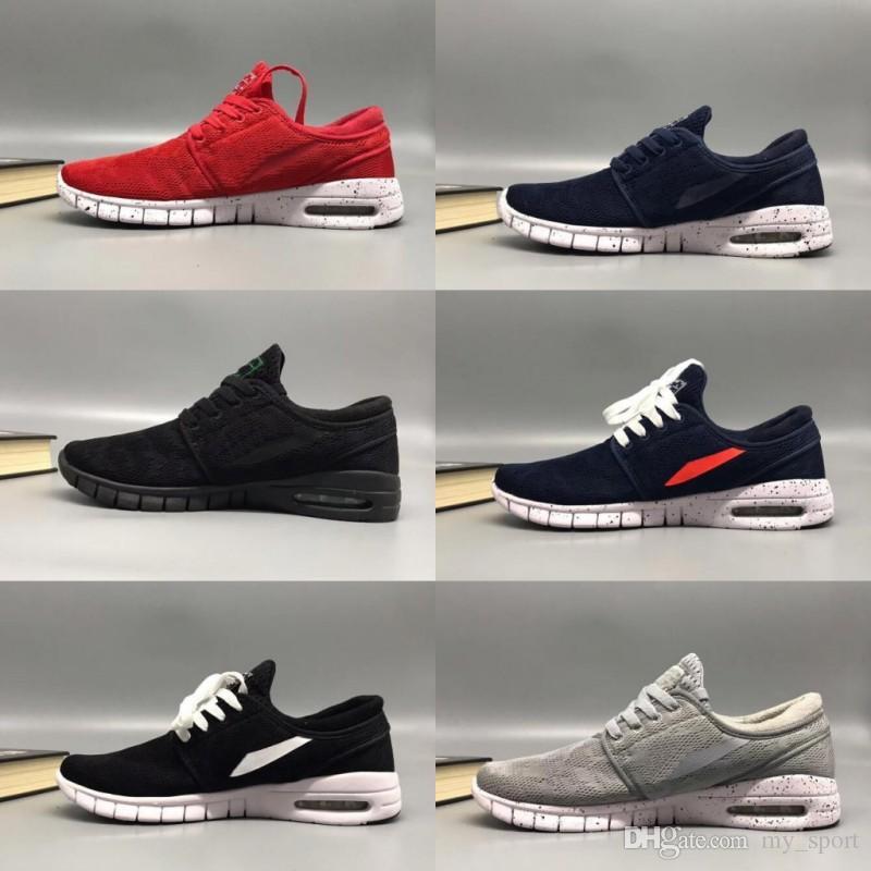 2018 SB Stefan Janoski Zapatos Hombre Mujer Zapatillas de deporte maxes Deportes atléticos para hombre de alta calidad Entrenadores de diseño de aire