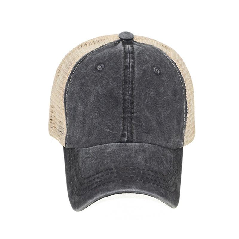 Responsible Sports Cap Retro Style Washed Denim Strapback Hat Headwear Outdoor Sports Wear With Adjustable Back Closure Professional Design Racquet Sports