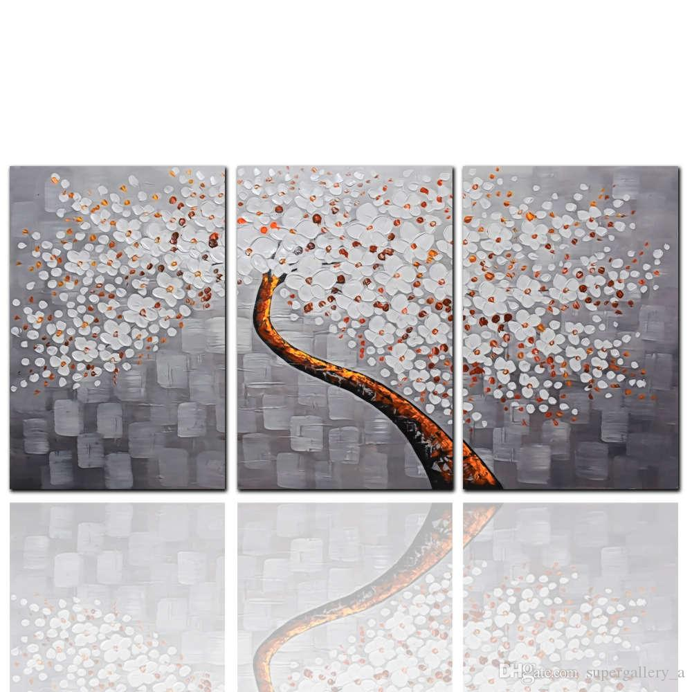 Decorative canvas painting Home Decor cheap modern art painting painting trees wall pictures for living room 3pcs